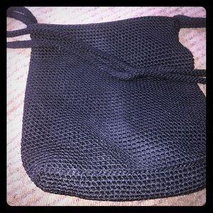 The Sak black crochet purse